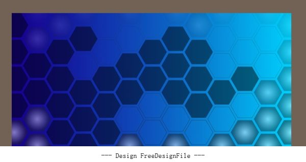 Decorative background polygonal honeycomb shapes flat blue vector