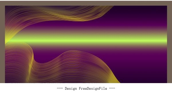 Shining colored dynamic waving lines 3d vector