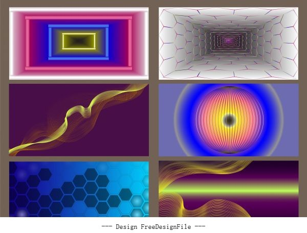Decorative background templates colorful modern abstract vector