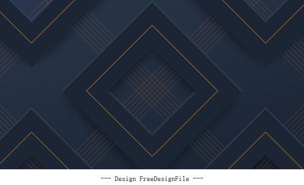 Decorative pattern dark modern 3d repeating geometric vector