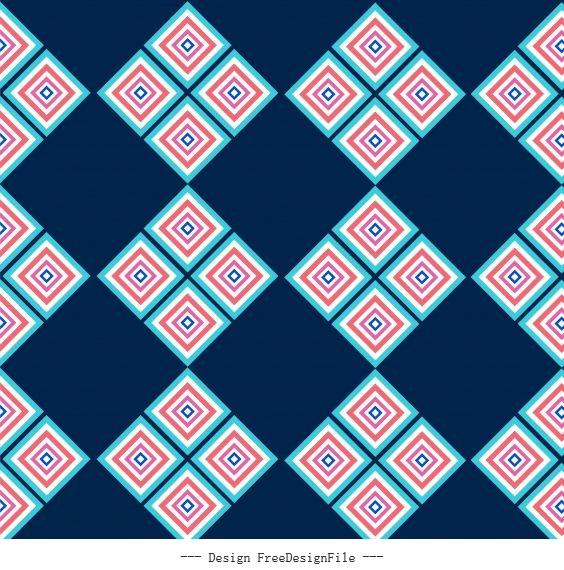 Decorative pattern delusive geometric colored flat vector