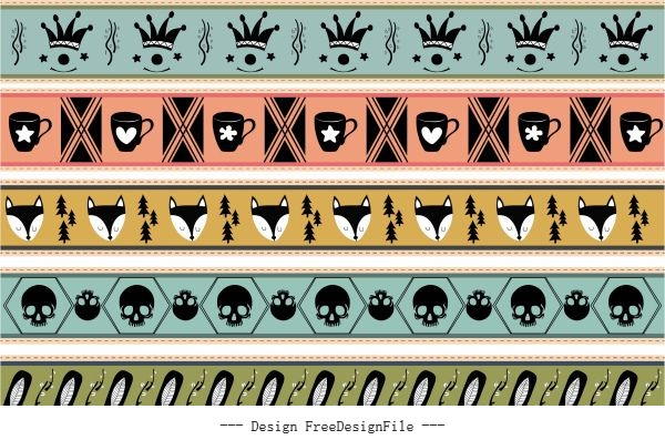 Decorative pattern repeating symbols vector