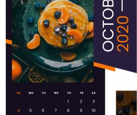 Delicious dim sum cover 2020 calendar vector