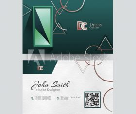 Design culture business card vector