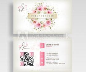 Design wedding business cards vector
