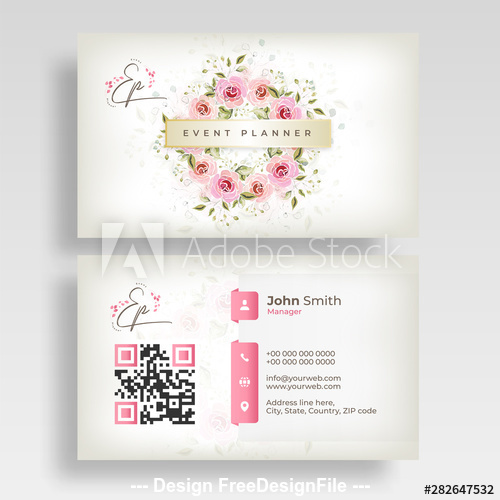 Design wedding business cards vector