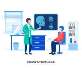 Diacnose patientss health vector