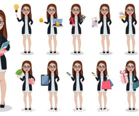 Different women vector
