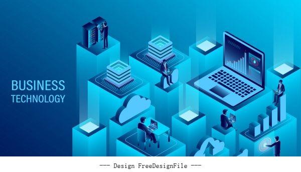 Digital technology concept illustration vector
