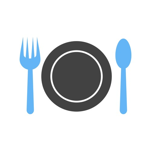 Dinner plate Icons vector
