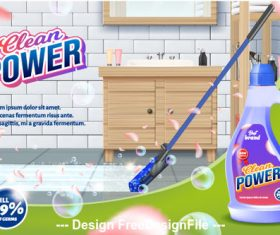 Disinfectant household advertising vector