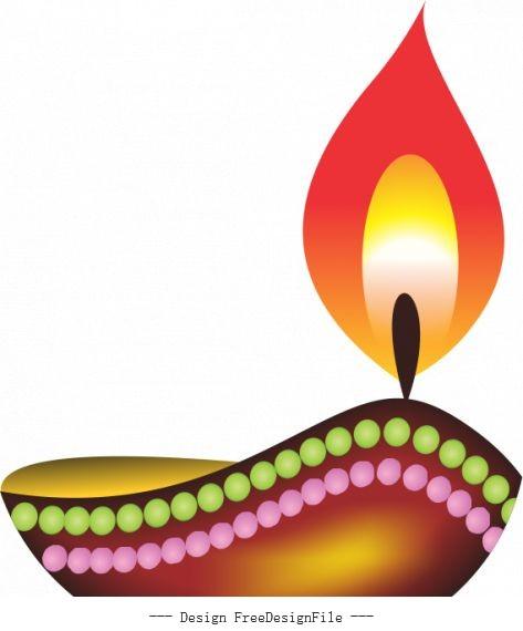 Diwali diya deep deepawali design vectors