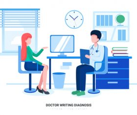 Doctor diagnosis vector