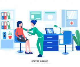 Doctorin clinic vector