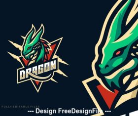 Dragon sport and esports logo template vector