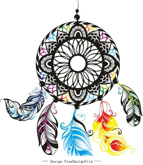 Dreamcatcher color free cdrs art vector design