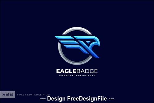 Eagle badge bold logo template vector