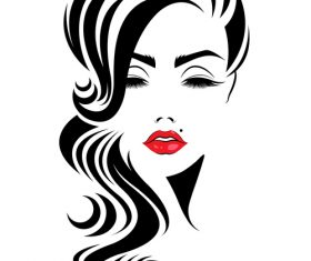 Elegant girl cosmetics vector