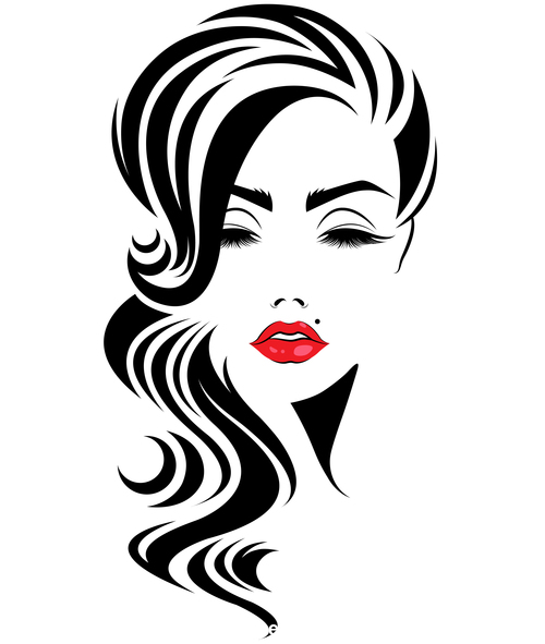 Elegant girl cosmetics vector