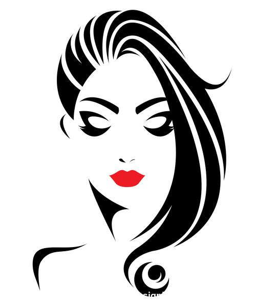 Elegant Girl Stylish Hairstyle Logo Vector Free Download