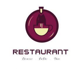 Elements restaurant logo templates vector