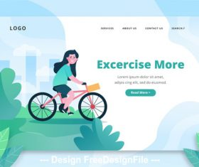 Excercise more cartoon illustration vector