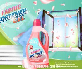 Fabric softener cel home advertising vector