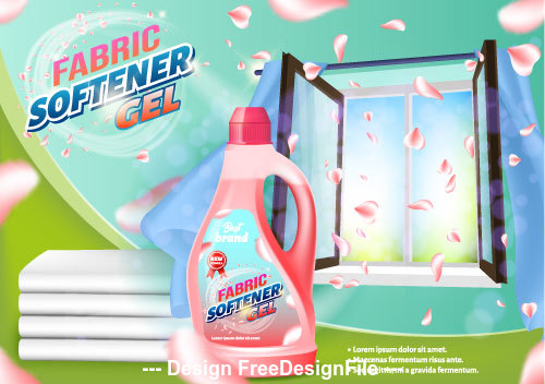 Fabric softener cel home advertising vector