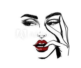 Face sketch vector