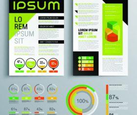 Factory flyer template design information vector