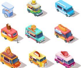 Fast food sales cart vector