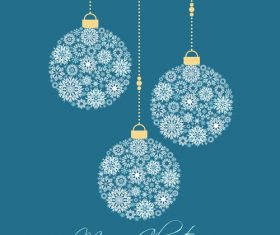 Flower christmas ball vector