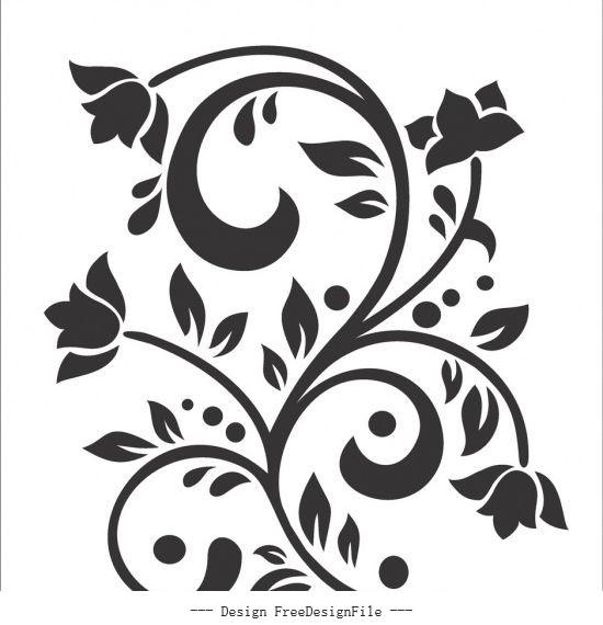 Flower free cdrs art vector