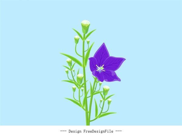 Flower painting growing modern vector