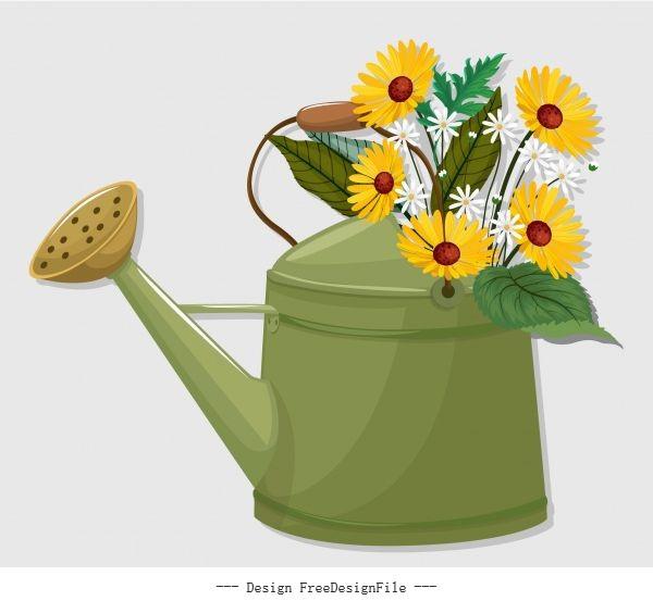 Flowerpot showering pot classical shiny vector