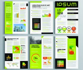 Flyer template brochure design information vector