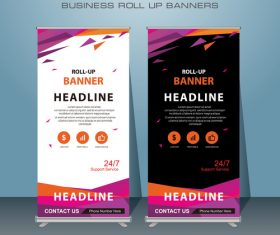 Flyer template roll up banners vector