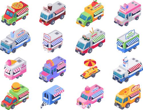 Food Trucks vector