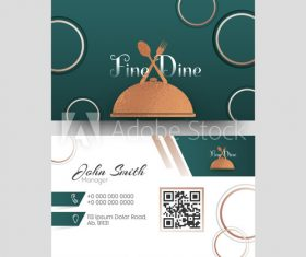 Food club business card design vector