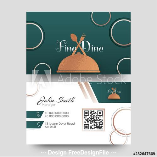 Food club business card design vector
