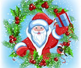 Funny Santa Card Vector Illustration