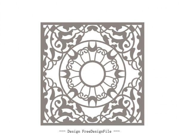 Geometric mandala free cdrs art vector set