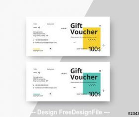 Gift voucher layouts with color blocks vector