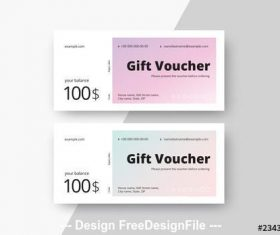 Gift voucher layouts with gradients vector