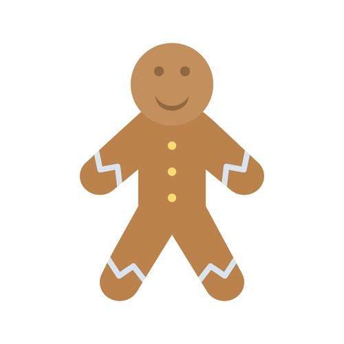 Gingerbread icon vector