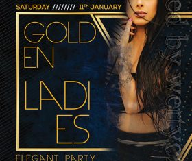 Golden Ladies Flyer Psd Template