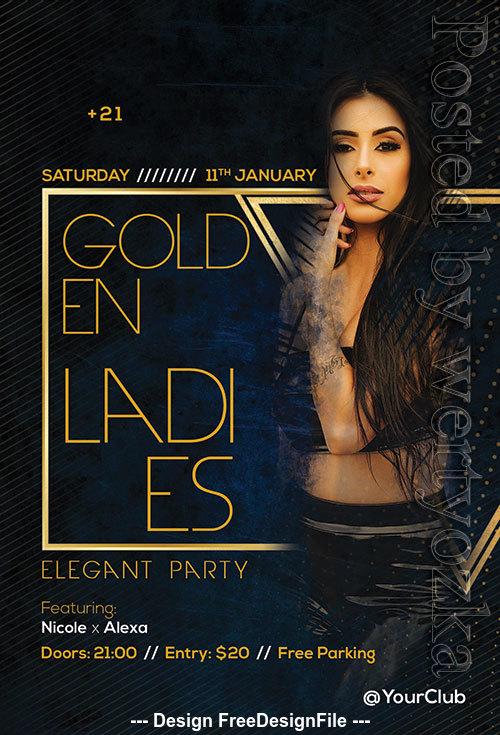 Golden Ladies Flyer Psd Template
