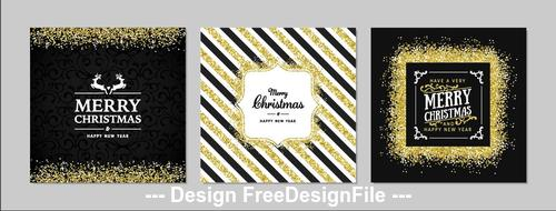Golden background christmas greeting card banner vector