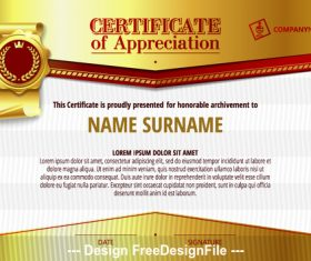 Golden certifIcate vector