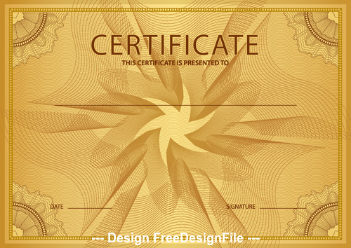 Golden cover certifIcate vector